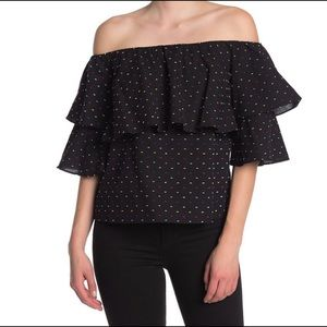 NEVER WORN Wayf Tiered Off the Shoulder Blouse